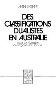 classifications dualistes en australie